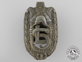 A Latvian Firefighter's Badge of Honour by F.Muller