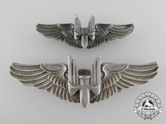 A Second War American Air Force Aerial Gunner Badge, Full and Reduced Size