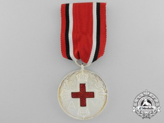 A Prussian Red Cross Medal; Second Class
