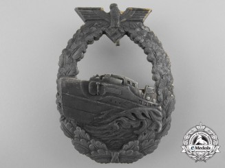 A First Pattern Kriegsmarine E-Boat Badge by French Maker Bacqueville, Paris
