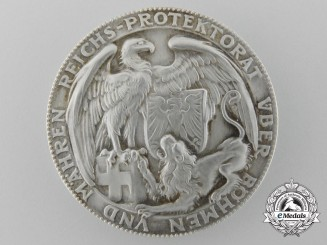 A 1939 Reich Protectorate Over Bohemia & Moravia Commemorative Medal with Box
