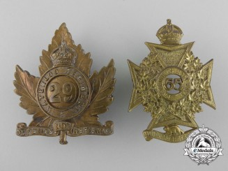 Two Pre-First War Canadian Cap Badges