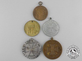 Five German Imperial Commemorative Iron Cross Medals