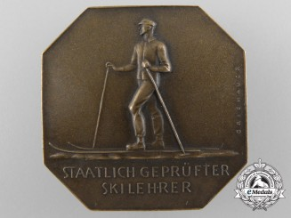 An Austrian State-Approved Ski Instructor Badge