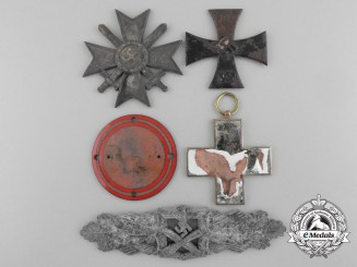 A Lot of German Medls, Awards, and Order Parts from the Destroyed Zimmermann