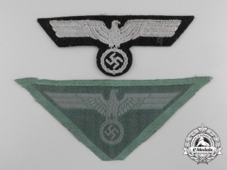 Two German Breast Eagle Insignia