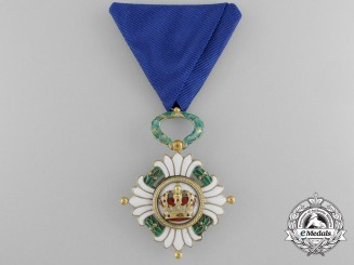 An Order of the Yugoslav Crown; Fourth Class by Huguenin Freres