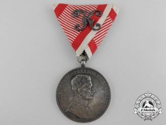 An Austrian Bravery Medal; First Class Officier's
