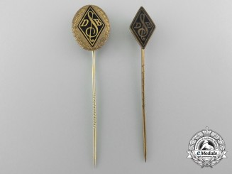 Two Second War German Singers League Stick Pins