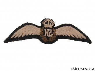 WWII New Zealand Air Force Pilot Wing