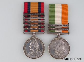 Boer War Pair, Private G./J. Mitchell, Royal Welsh Fusiliers