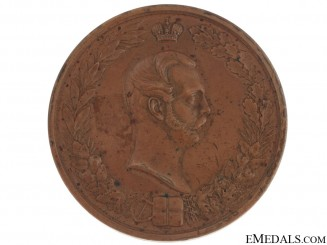 Bronze Table Medal 1860