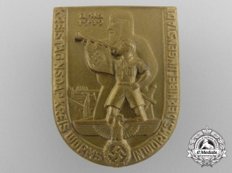 A 1939 NSDAP District Meeting Day Badge by Richard Sieper & Söhne