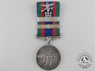 A Canadian Volunteer Service Medal with Dieppe Clasp