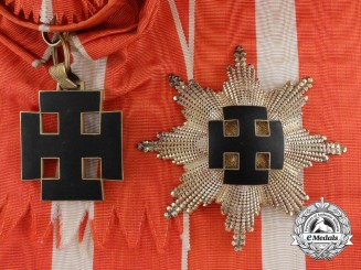 A Rare and Important Austrian Merit Order Grand Cross for Heads of State by Anton Reitterer