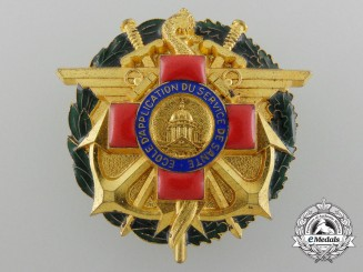 A French Army Medical Services Applicable School Health Service Badge