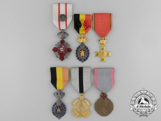 Six Belgian Medals and Awards