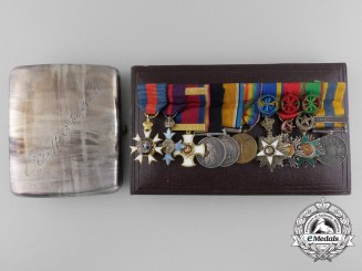 The Miniature Awards of Lieutenant-Colonel George Clifford Miller Hall