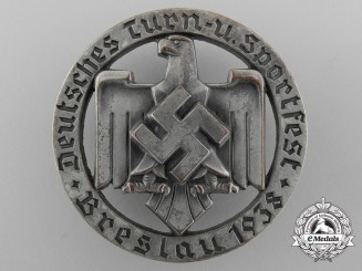 A 1938 German Gym and Sports Celebration Badge by Robert Neff