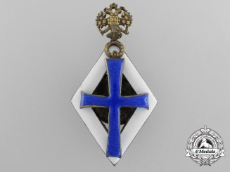 A Russian Imperial Badge for Bachelor Degree Graduates of Imperial Russian Universities