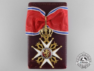 A Royal Norwegian Order of St. Olav; Commander's Cross in Gold by J. Tostrup