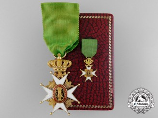 A Swedish Order of Vasa in Gold with Case by C.F.Carlman