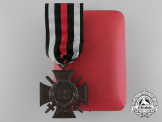 A First War Hindenburg Cross with Swords in Case of Issue