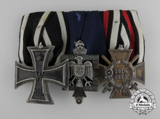 A German Imperial Bar with Durch Not Und Tod 1914 Patriotic Medal