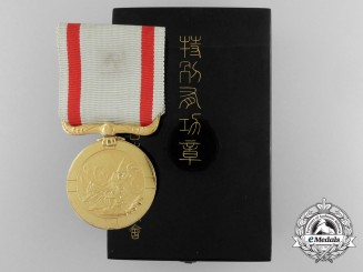 A First Class Japanese Sea Disaster Rescue Society Merit Medal in Case of Issue