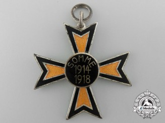 A Imperial German Battle of the Somme Commemorative Cross