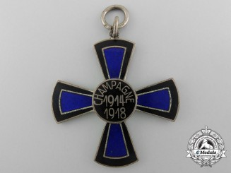An Imperial German Battle of Champagne Commemorative Cross