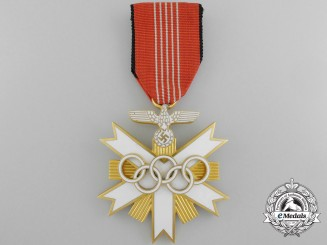 A Mint German Olympic Decoration; Second Class Breast Badge