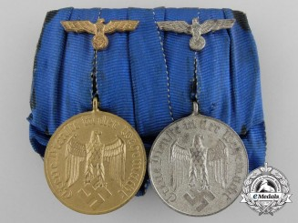 A German Pair of Army Long Service Decorations