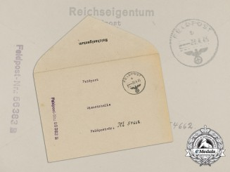 A Feldpost Envelope from 702nd Division to Kreigsmarine R-Boats