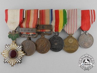 A Japanese Order of the Rising Sun Medal Bar