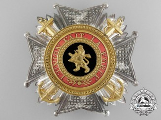 A Belgian Order of Leopold; Commander Cross with Anchors by P. DeGreef