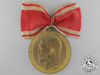 A Russian Imperial  Medal for Zeal; Gold Grade, 1st Class