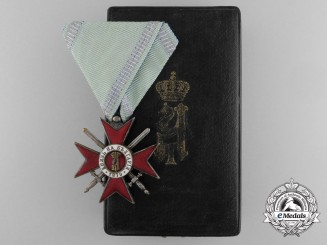 A Bulgarian Military Order for Bravery; 4th Class with Case