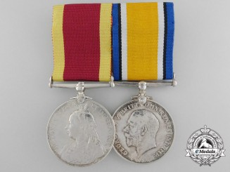 A China Service & First War Medal Pair to Bugler Browne; H.M.S. Pique/RMLI