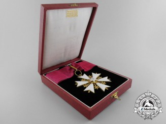 An Estonian Order of the White Star; Commander's Cross with Case by Roman Tavast