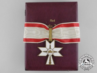 A Croatian Order of King Zvonimir's Crown; First Class with Case