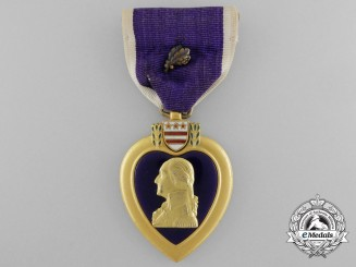 A Purple Heart to John Maloney who was Killed in Action during a Kamikaze Attack