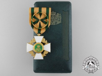 An Order of the Oak Crown of Luxembourg; Officer with Case