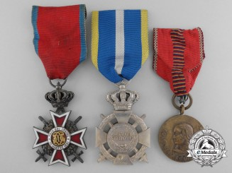A Lot of Three Romanian Orders and Awards
