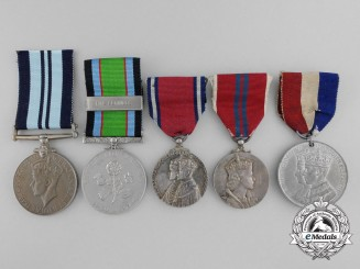 A Lot of Five British Medals and Awards