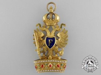 An Austrian Order of the Iron Crown in Gold; First Class Badge c.1855