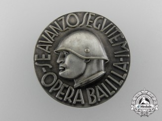 An Italian Opera Balilla Badge