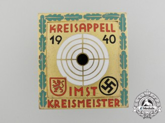 A 1940 Tyrolean Shooting Competition at Imst, Austria, Master's Shooting Badge