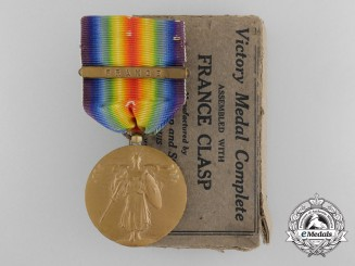 A First War American Victory Medal with Box of Issue