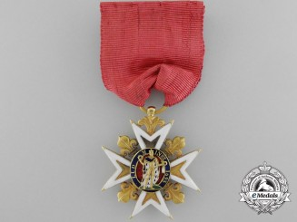 A French Royal Military Order of St. Louis; Knight's Class in Gold